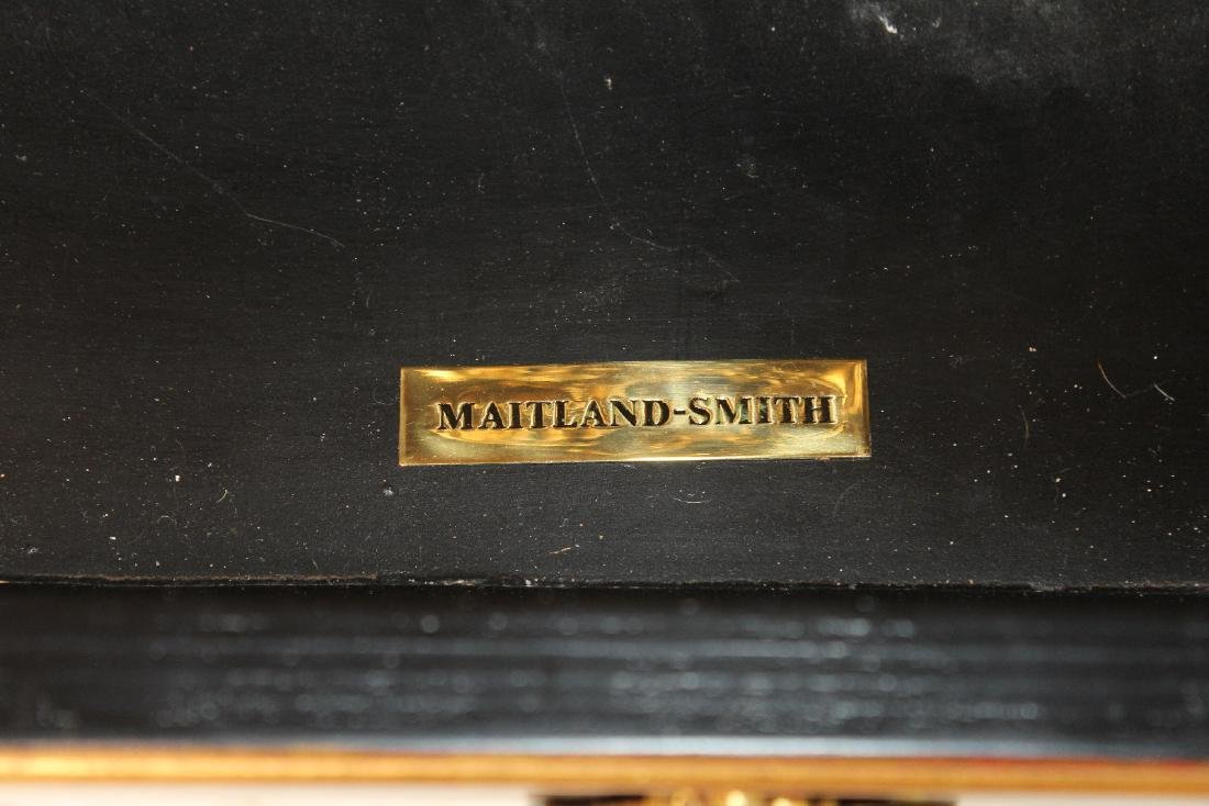 Pair of Maitland Smith marble top commodes - 2