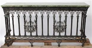Maitland Smith verdigris Gothic style console