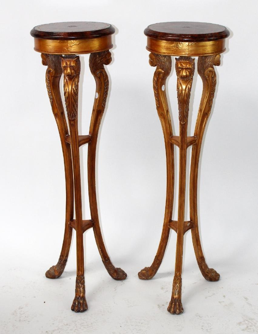 Pair Maitland Smith Empire style plant stands