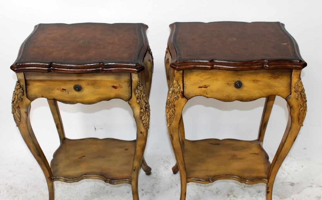 Pair of Maitland Smith Louis XV style side tables - 3