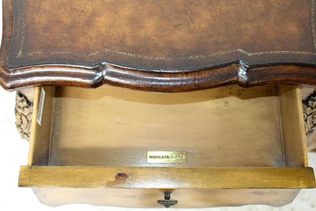 Pair of Maitland Smith Louis XV style side tables - 4