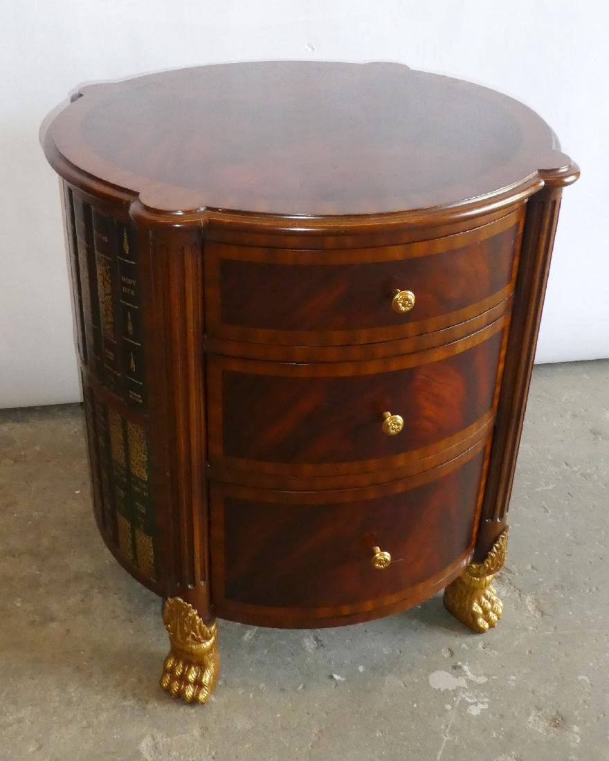 Maitland Smith faux book side table with drawers