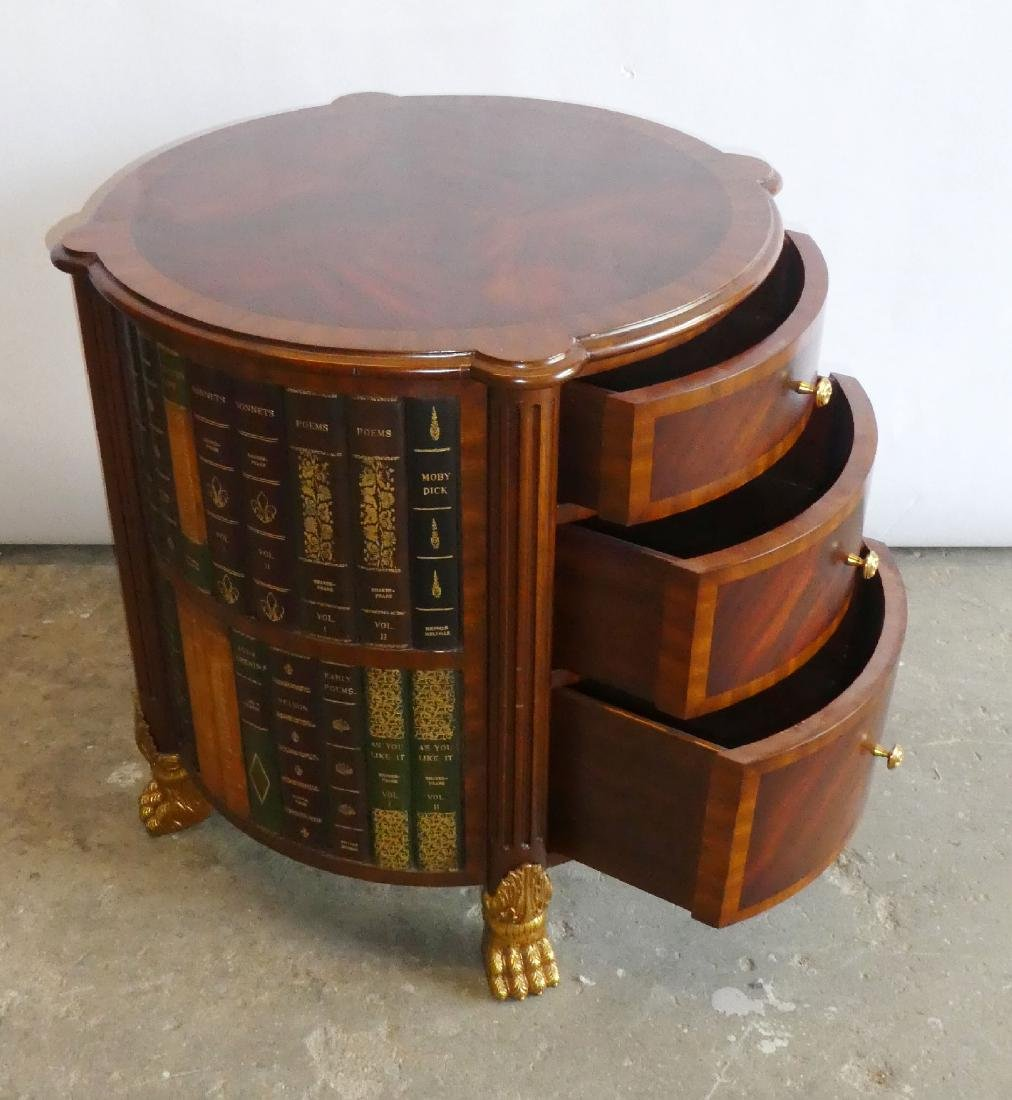 Maitland Smith faux book side table with drawers - 3