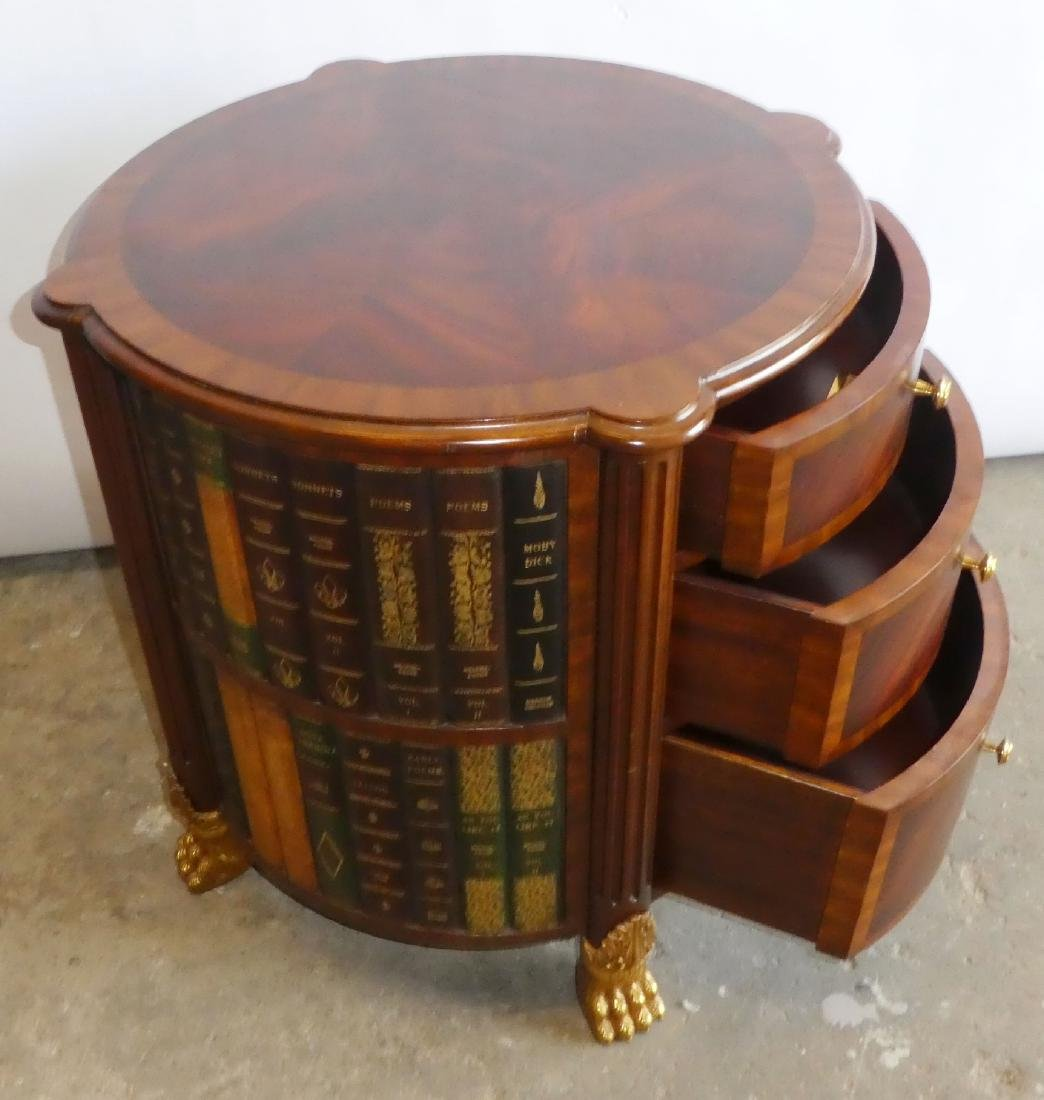 Maitland Smith faux book side table with drawers - 4