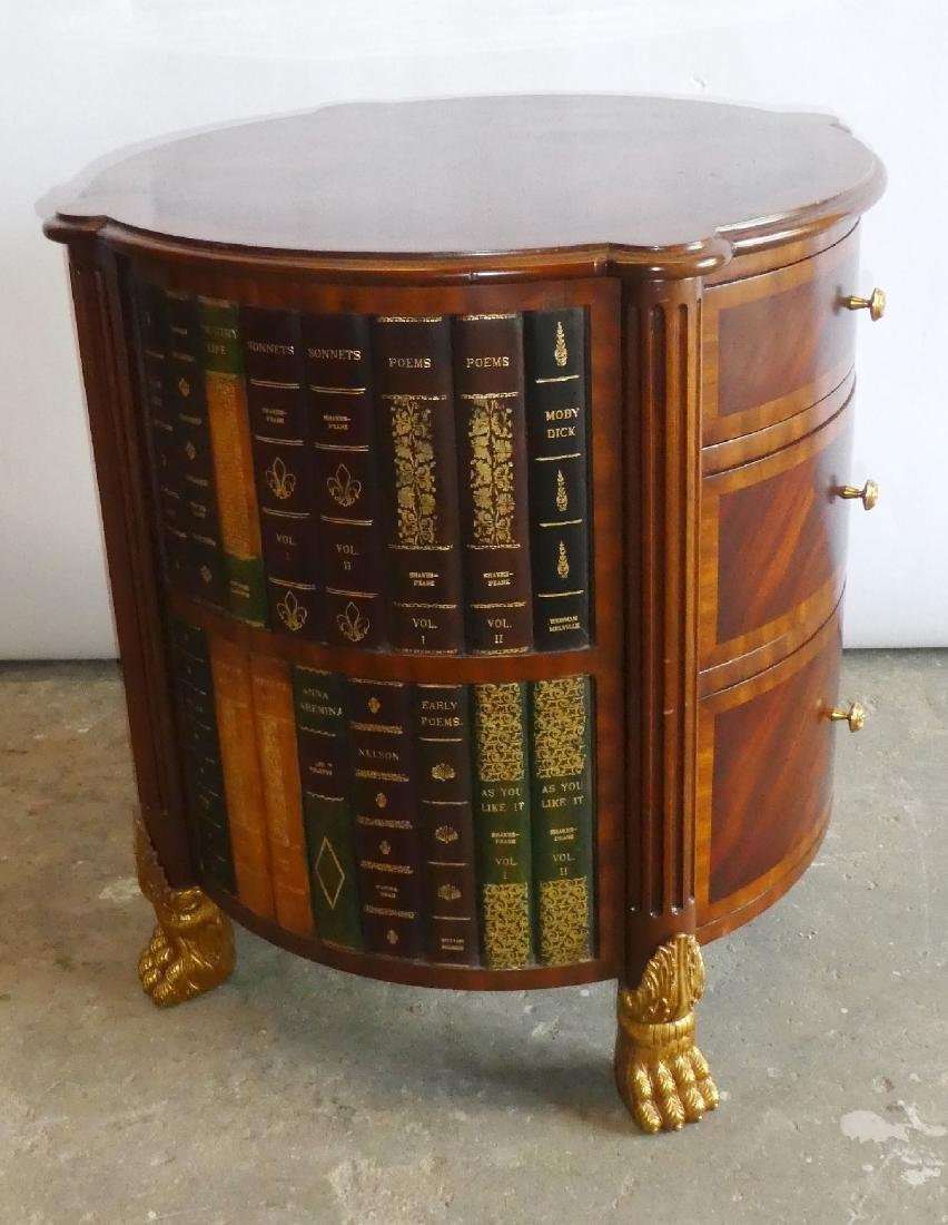 Maitland Smith faux book side table with drawers - 5
