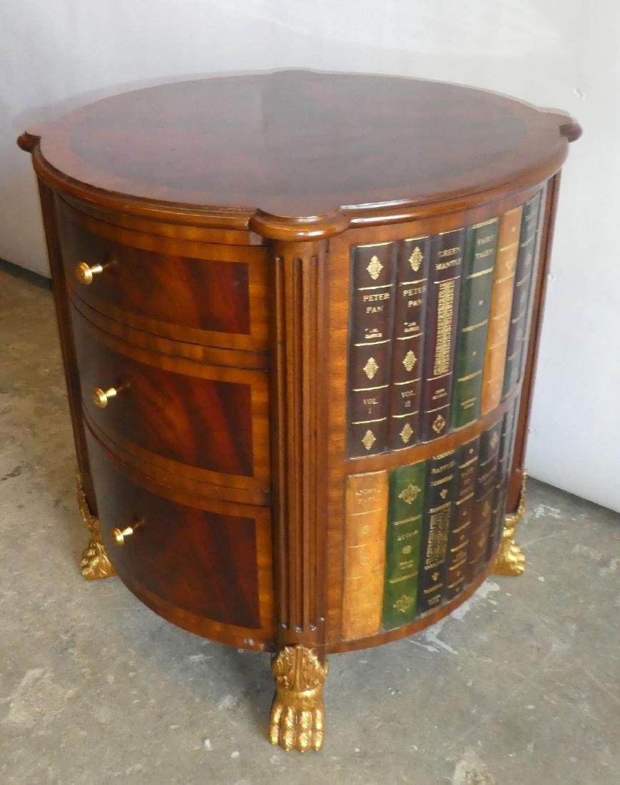 Maitland Smith faux book side table with drawers - 6