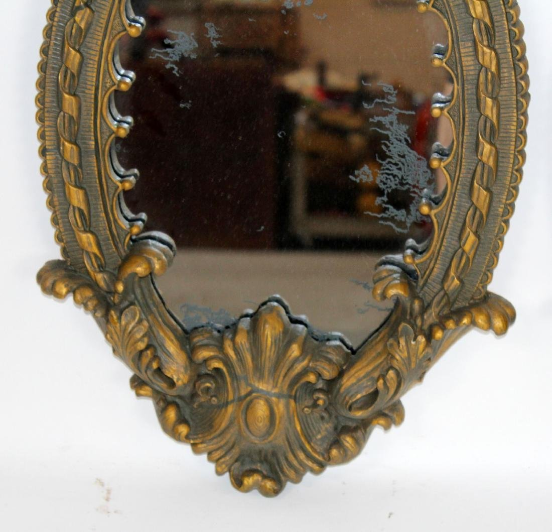 Pair of oval cast mirrors - 2