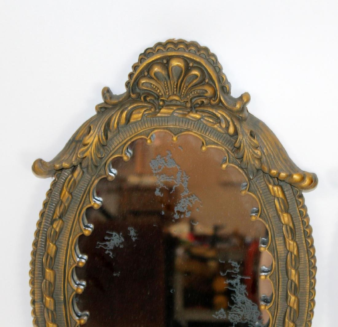 Pair of oval cast mirrors - 3