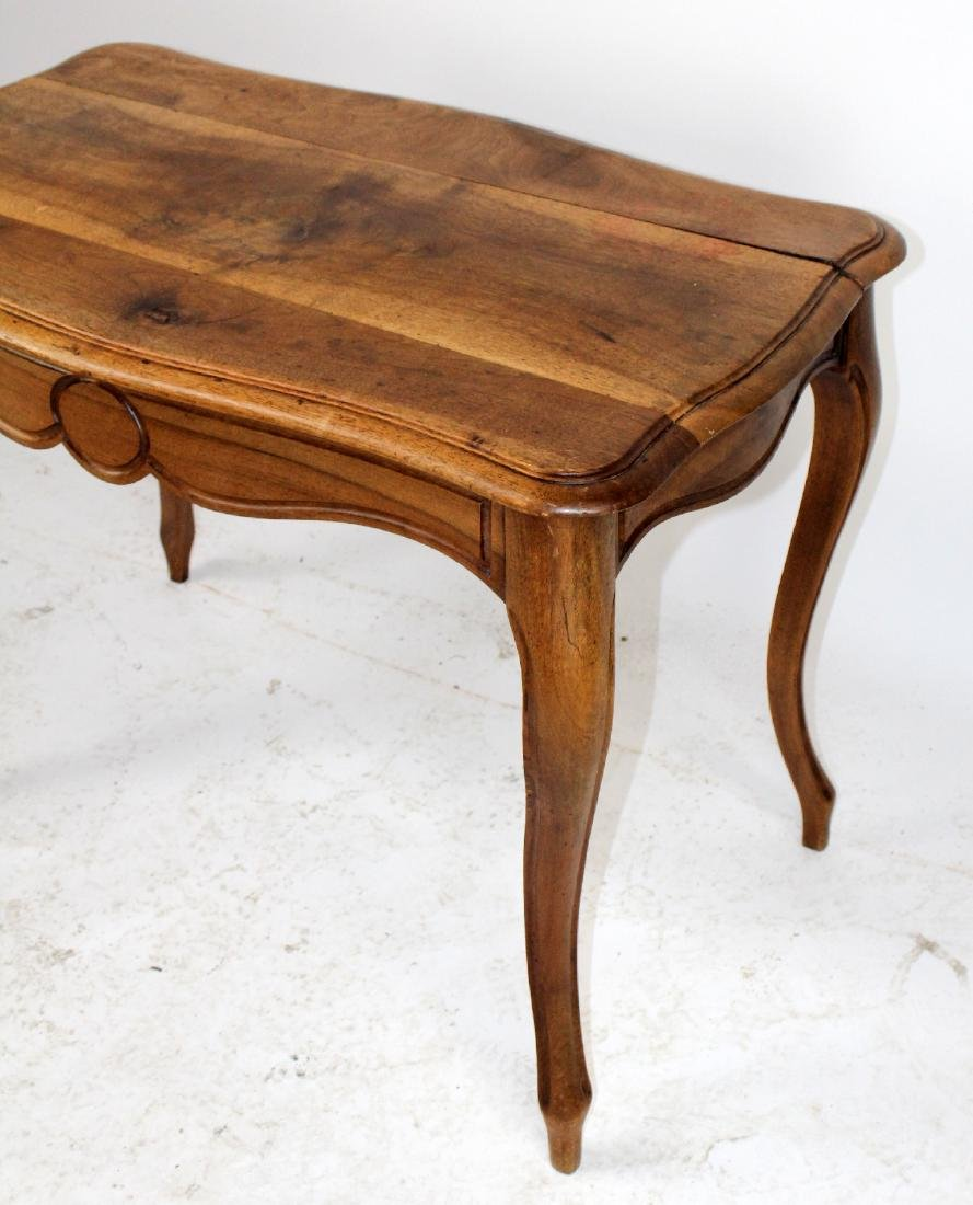 French Louis XV style walnut table - 4