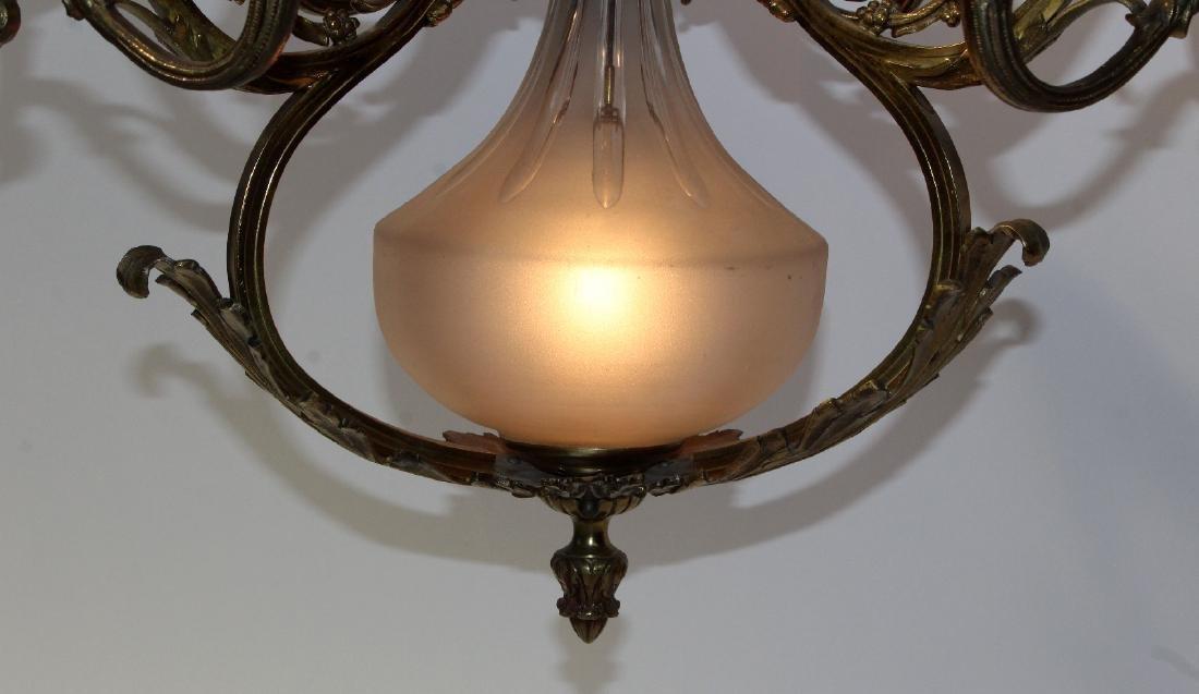 French gilt bronze 6-light chandelier - 5