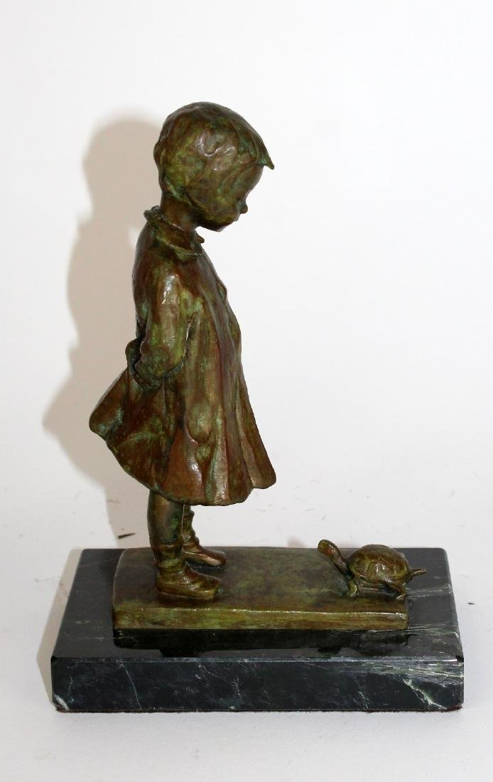 Martha Jackson Cornwell bronze girl with turtle