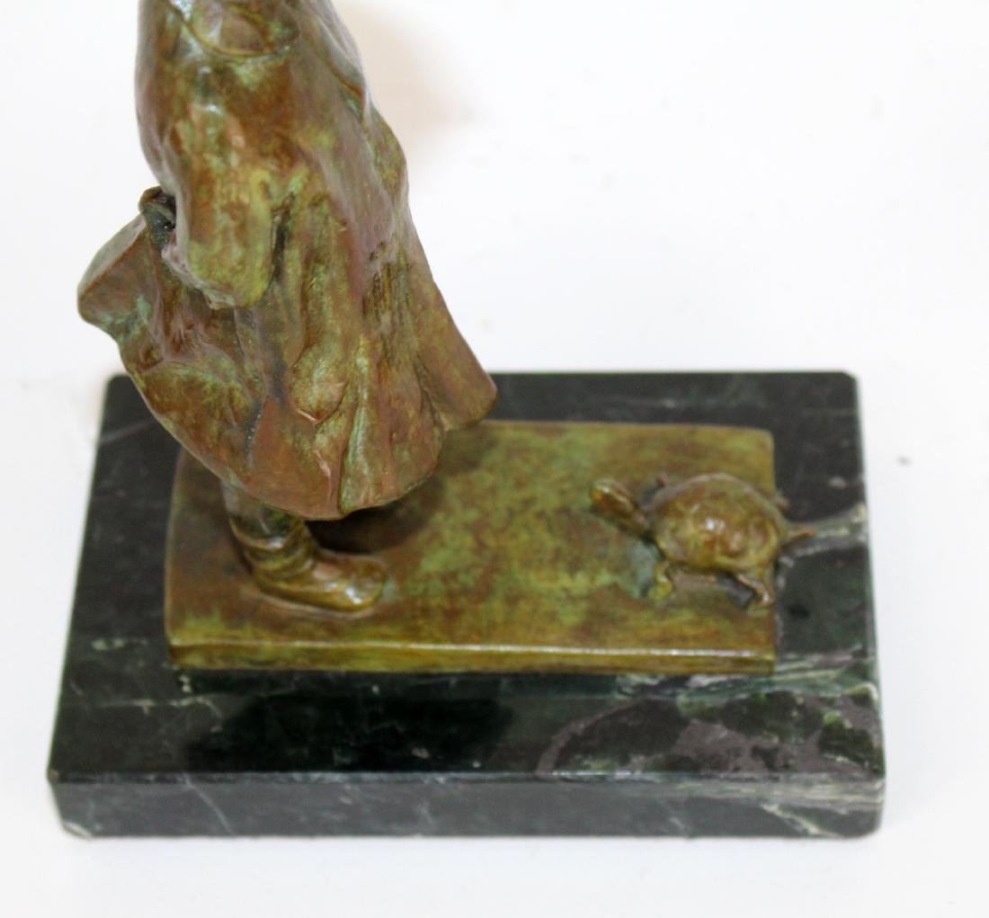 Martha Jackson Cornwell bronze girl with turtle - 3
