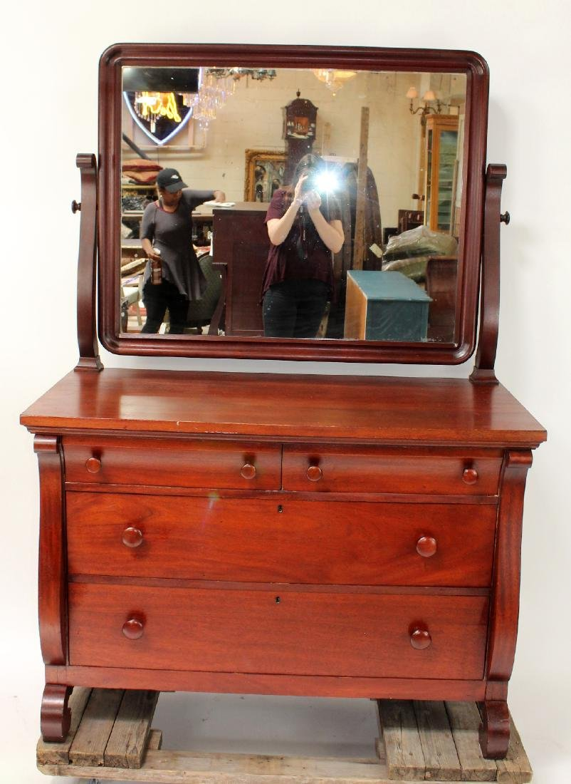 Karcher & Rehn Empire style dresser with mirror