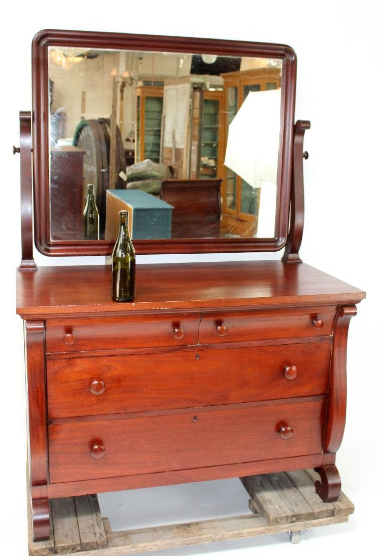 Karcher & Rehn Empire style dresser with mirror - 2