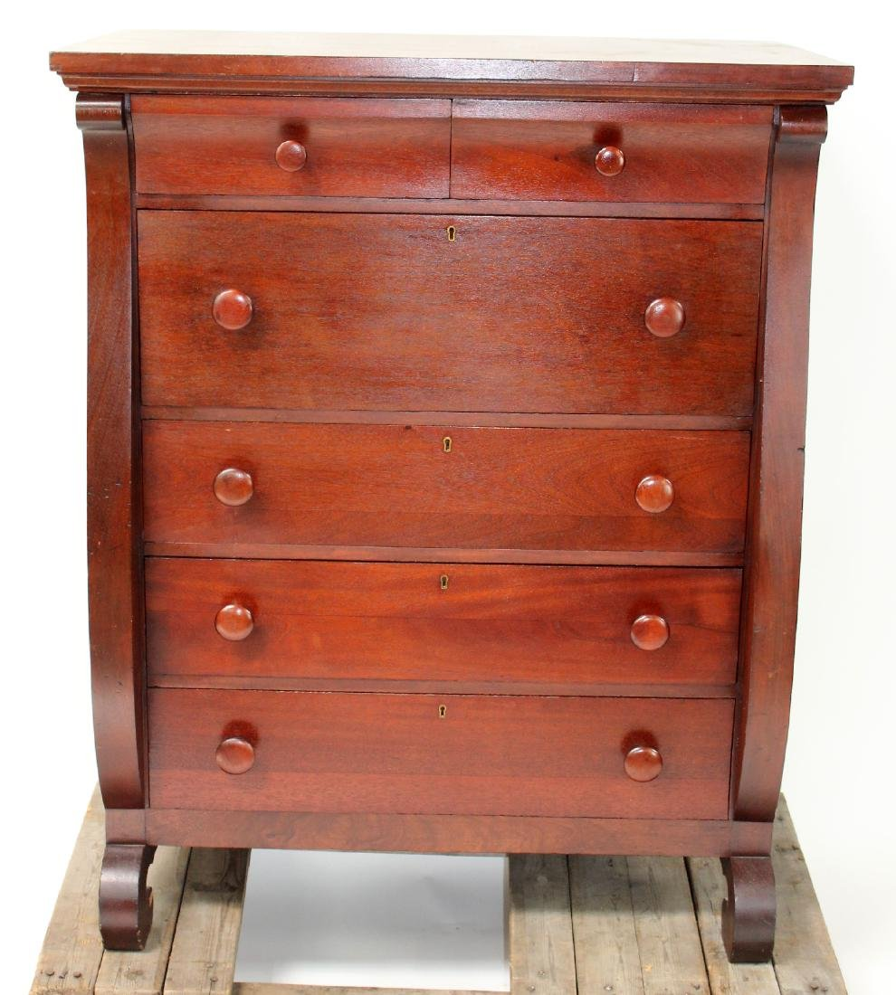 Karcher & Rehn Empire style dresser in mahogany