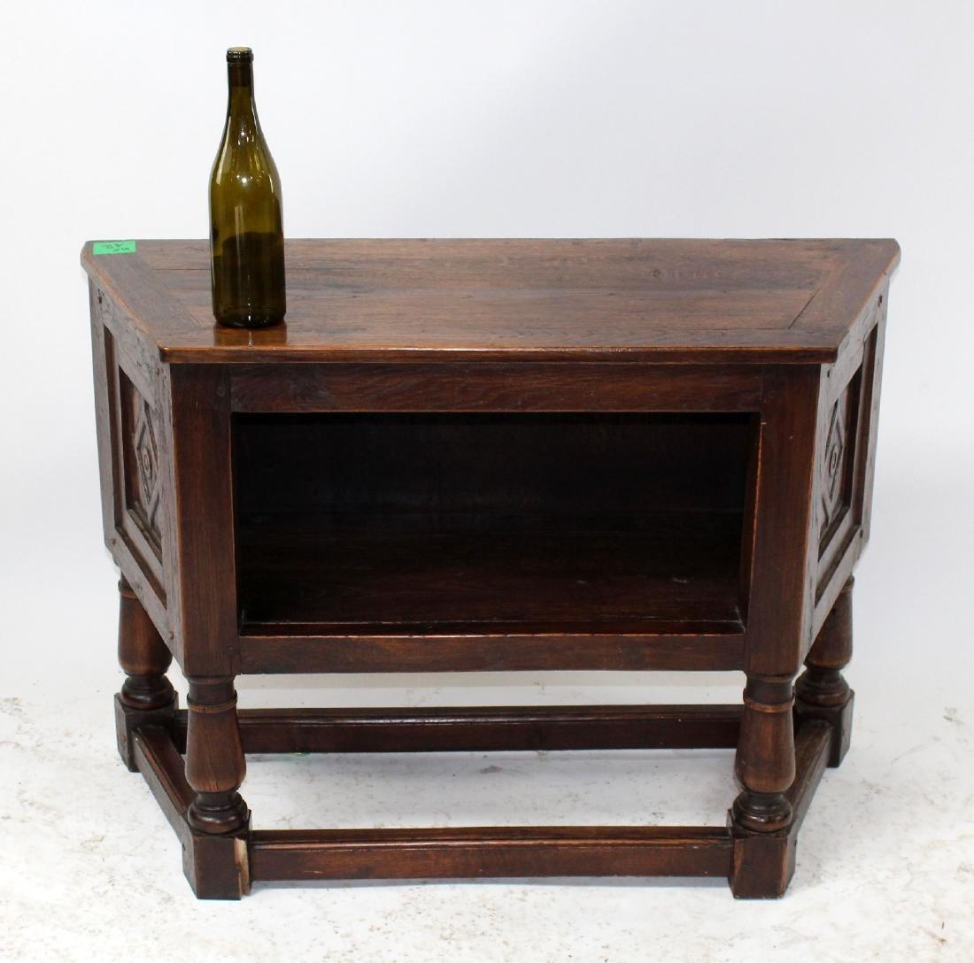 French oak bar cabinet - 2