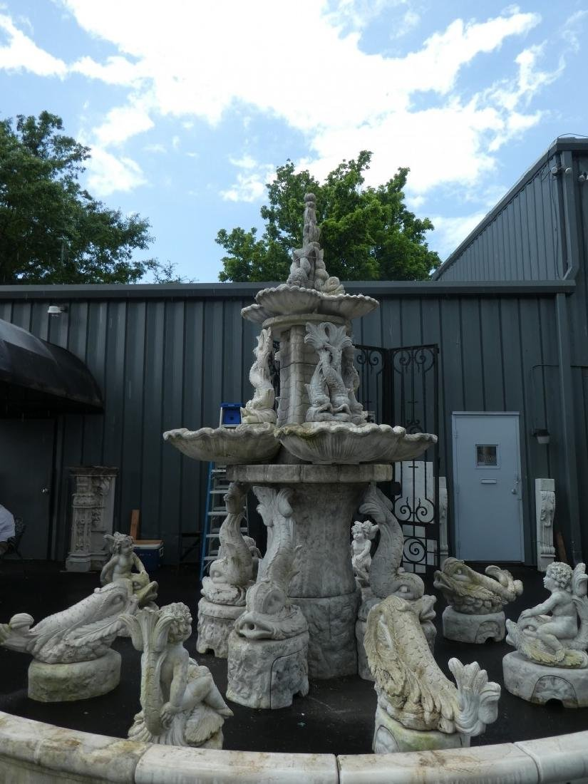 Monumental Italian cast stone 'Tritone' fountain