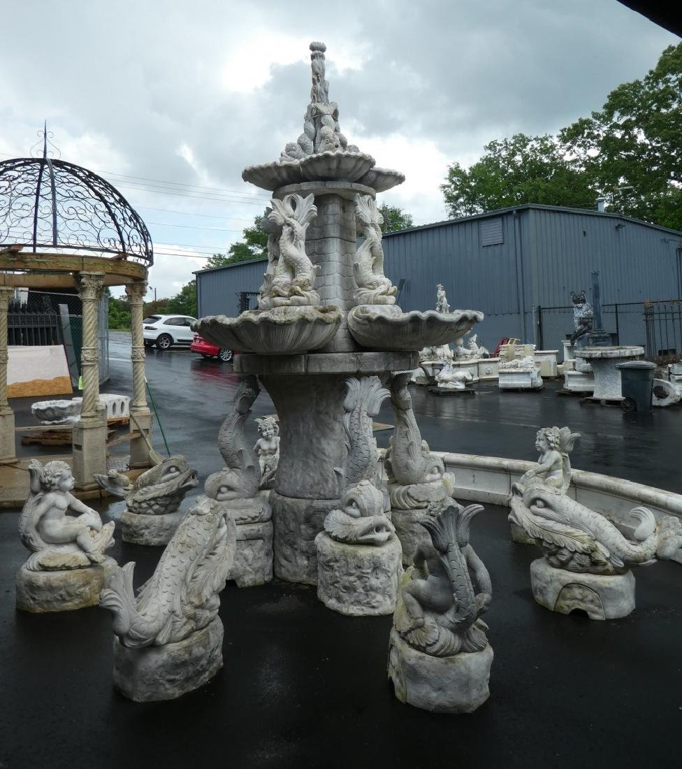 Monumental Italian cast stone 'Tritone' fountain - 2