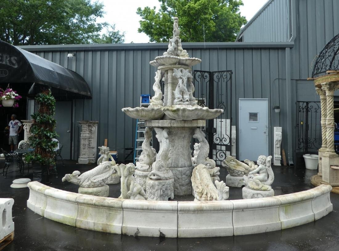 Monumental Italian cast stone 'Tritone' fountain - 3