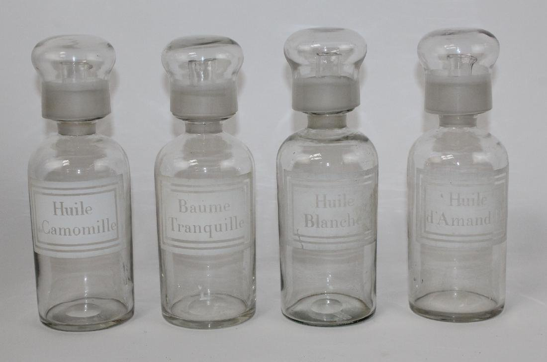 Set of 4 French apothecary jars