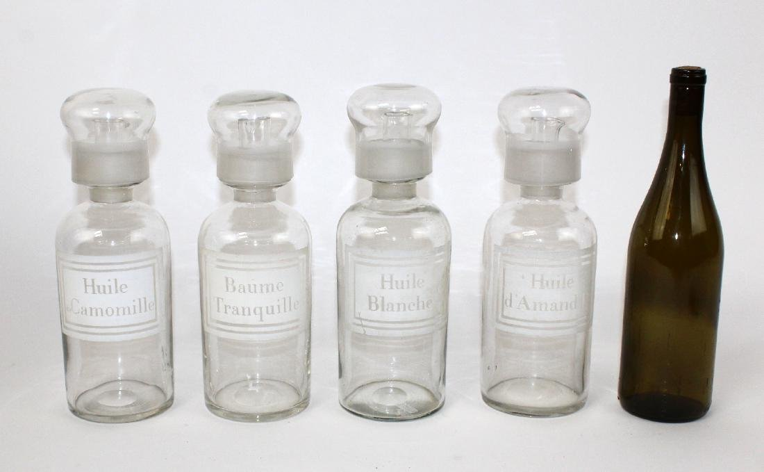 Set of 4 French apothecary jars - 2