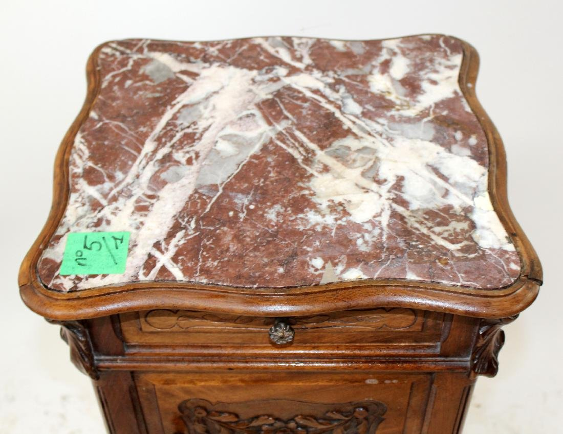 French Louis XV marble top chevet - 4