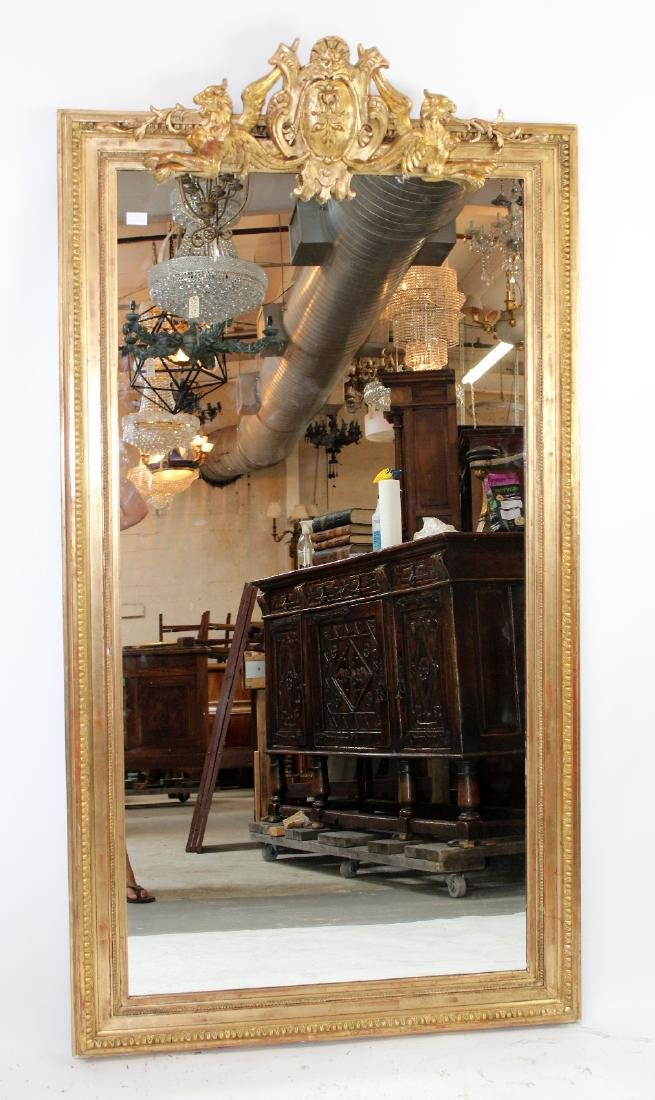 French gilt mirror with gryphons - 5