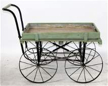 French Provence flower cart with zinc liner
