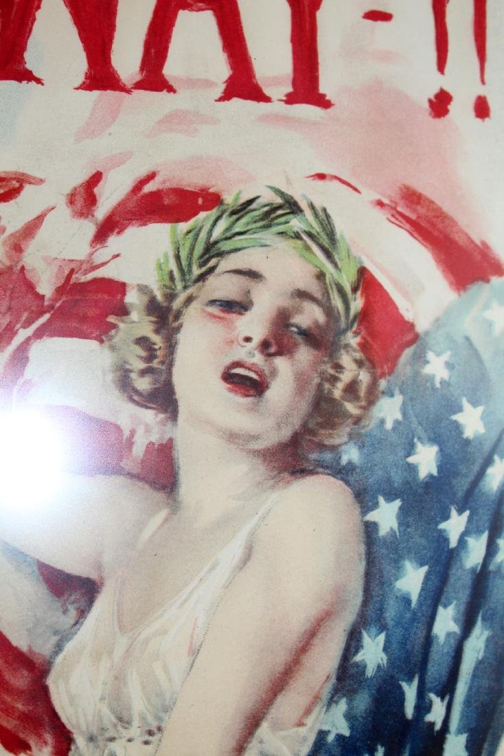 Vintage framed War bonds poster - 2