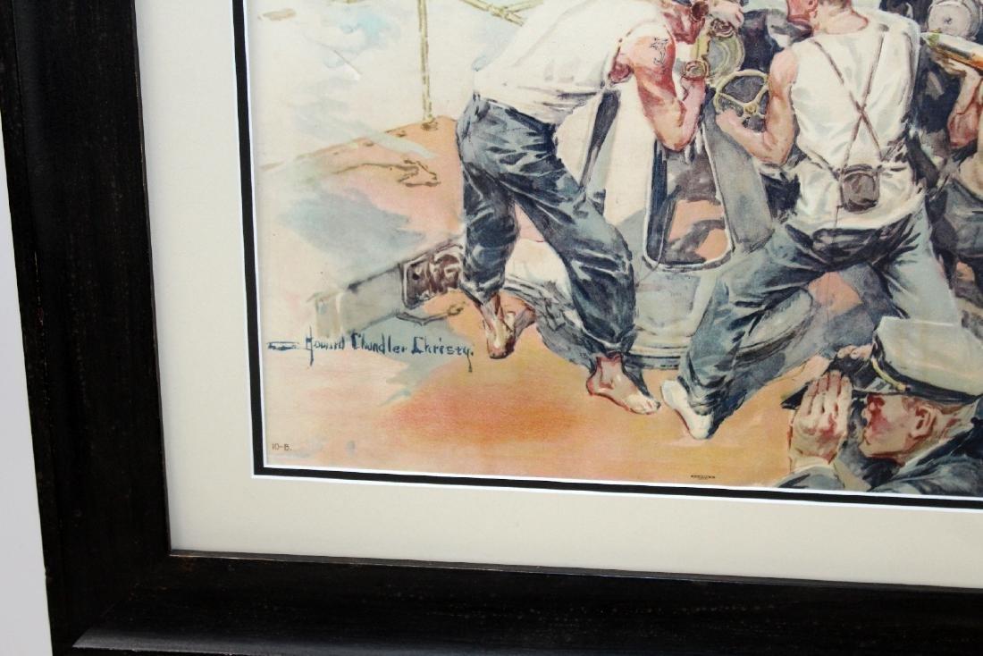 Vintage framed War bonds poster - 3
