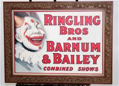 Vintage Ringling Bros  Barnum  Bailey poster