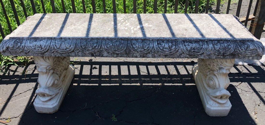 Pair of Italgarden cast stone garden benches - 2