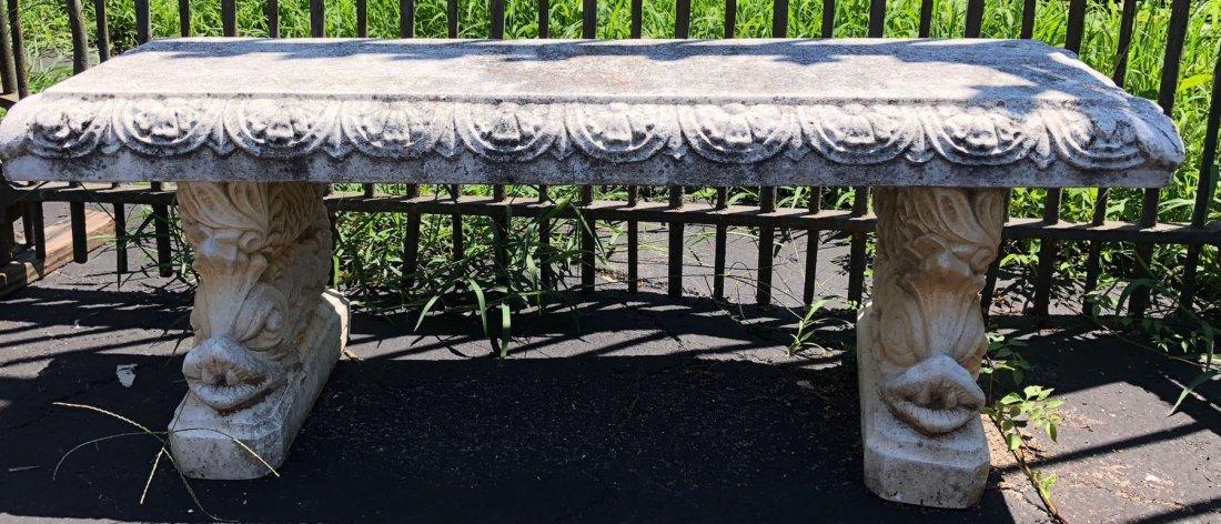 Pair of Italgarden cast stone garden benches - 5
