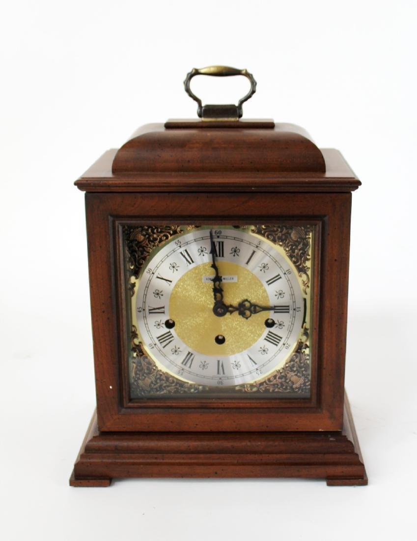 Howard Miller oak cased mantel clock