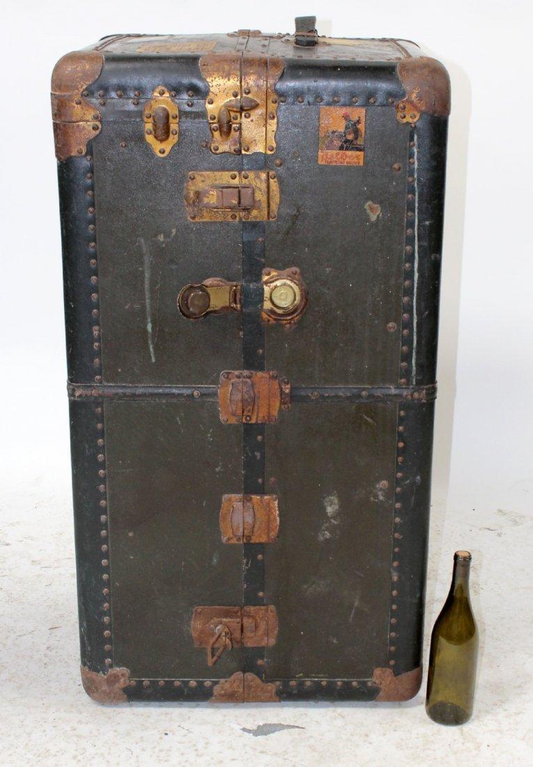 Antique American Belber wardrobe trunk