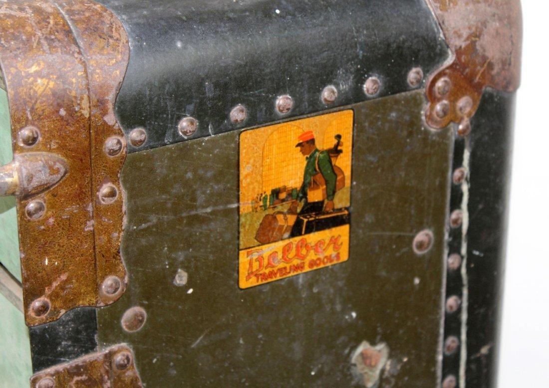 Antique American Belber wardrobe trunk - 2