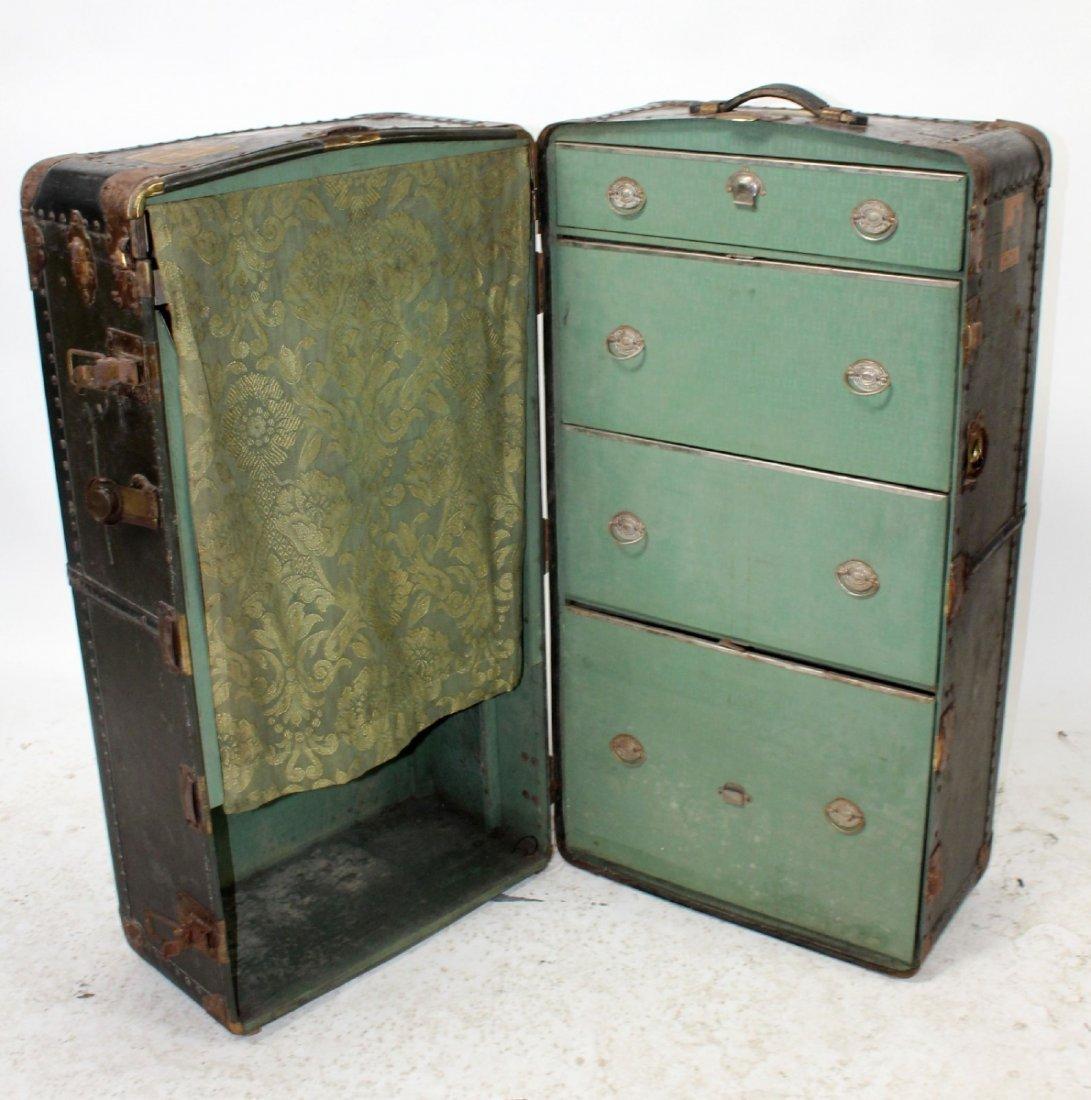 Antique American Belber wardrobe trunk - 3