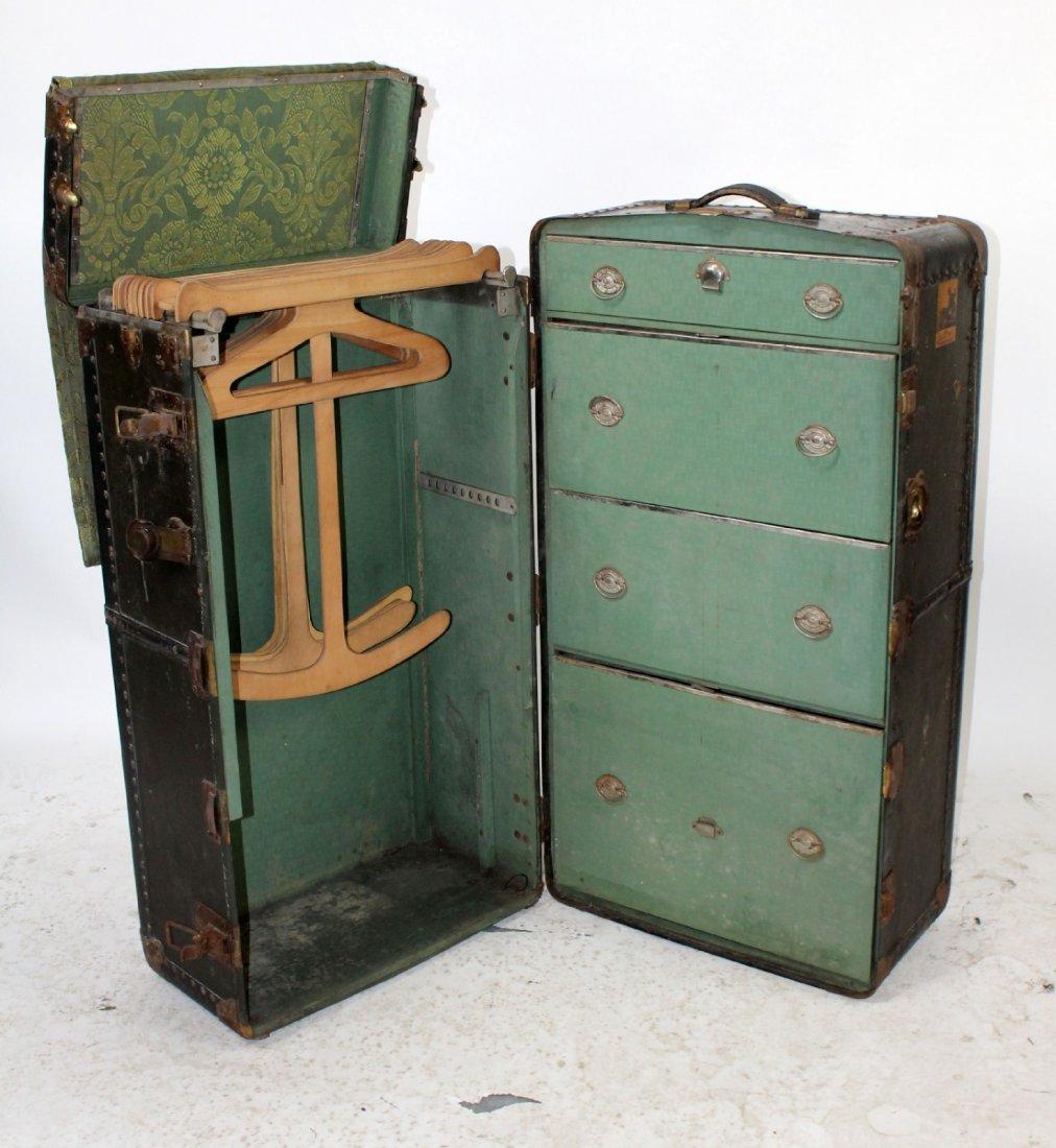 Antique American Belber wardrobe trunk - 4
