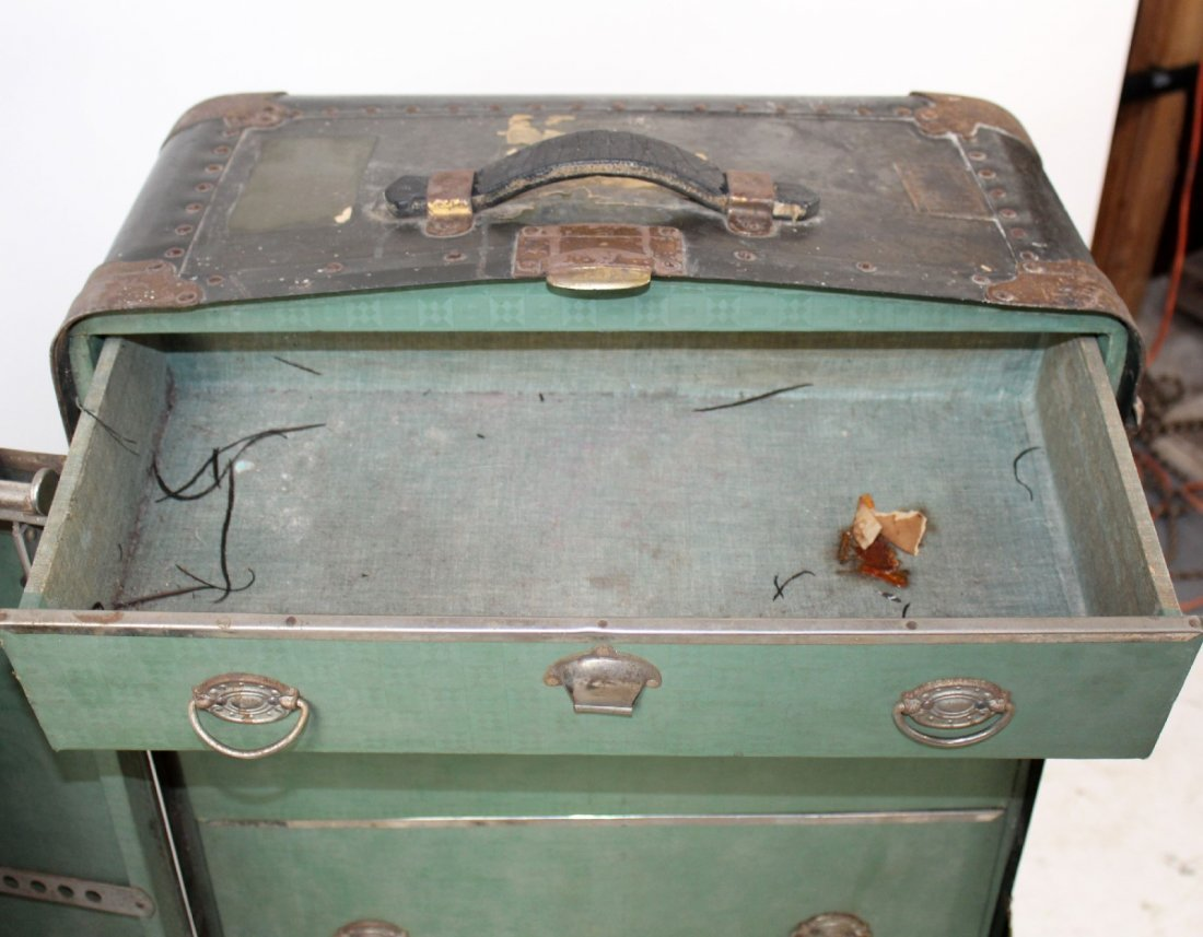 Antique American Belber wardrobe trunk - 5