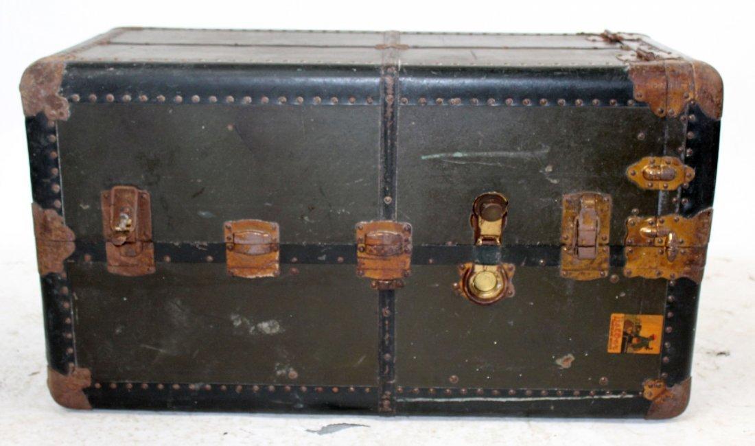 Antique American Belber wardrobe trunk - 6
