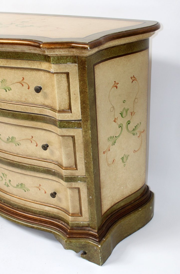 Painted 3 drawer chest - 4