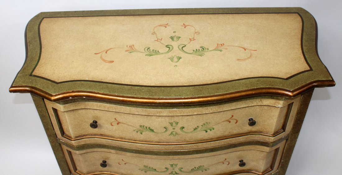Painted 3 drawer chest - 5