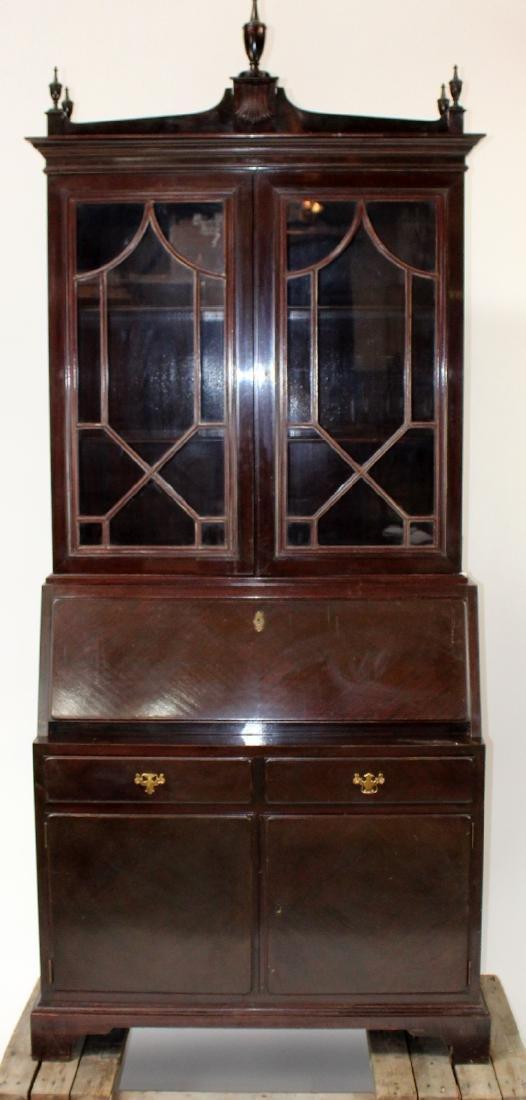 Mahogany bureau bookcase with secretary