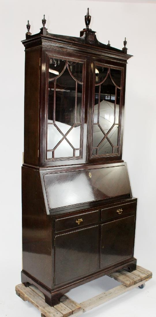 Mahogany bureau bookcase with secretary - 2