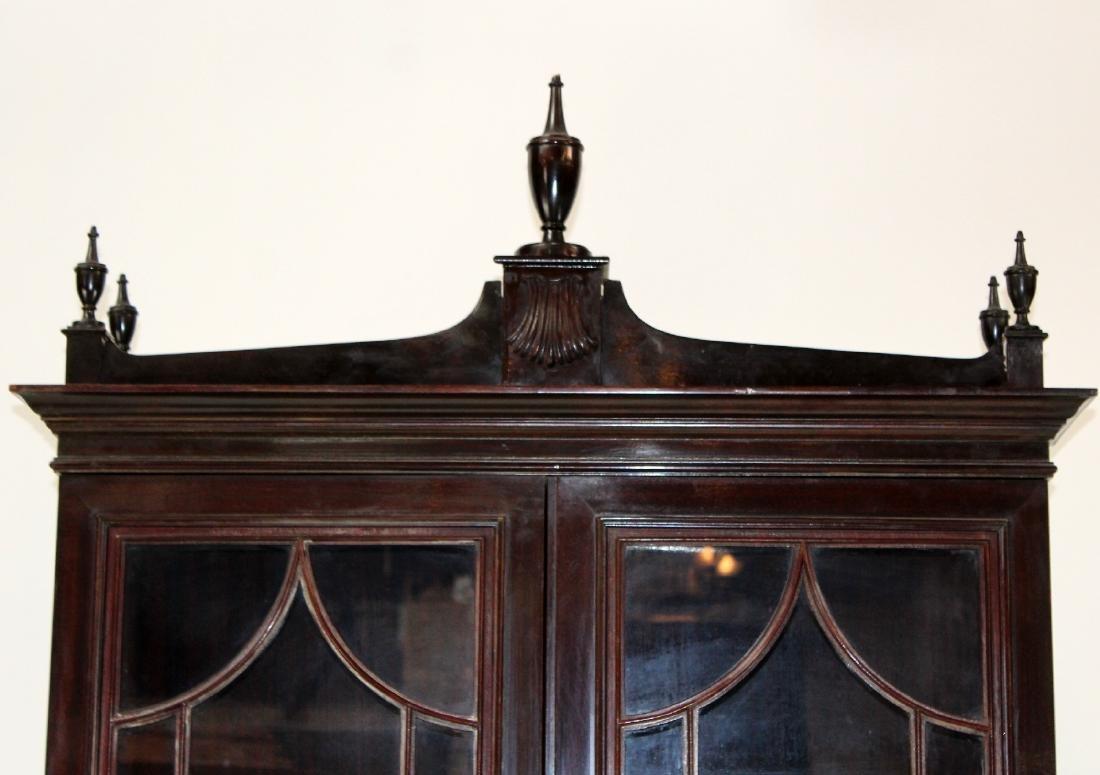 Mahogany bureau bookcase with secretary - 3