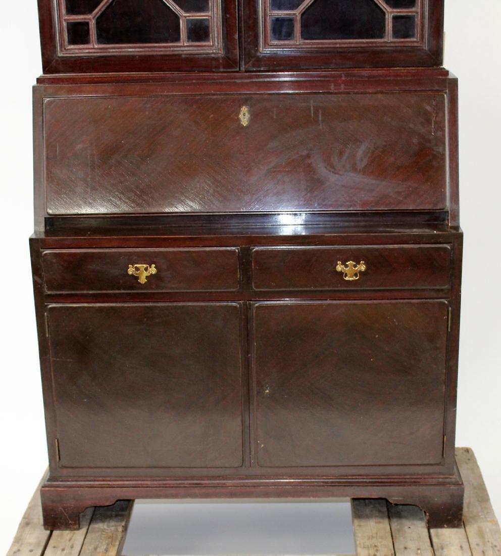 Mahogany bureau bookcase with secretary - 4