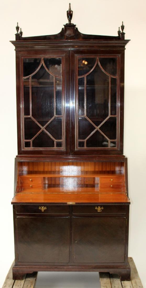 Mahogany bureau bookcase with secretary - 5