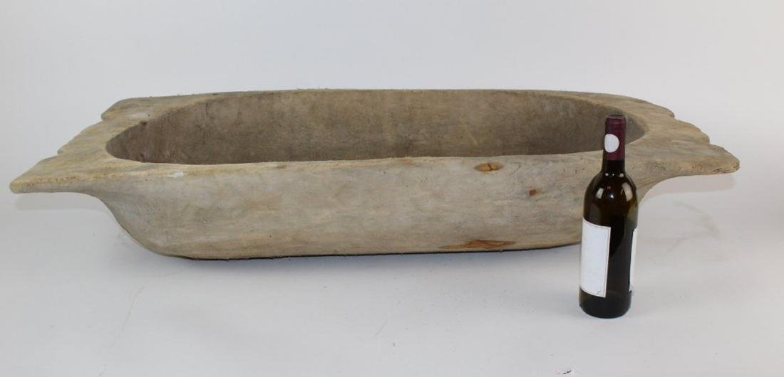 French wooden dough bowl