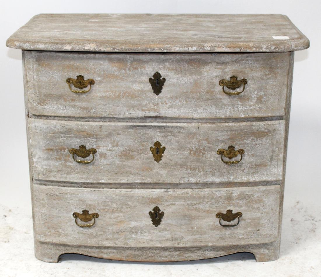 French 18th century 3 drawer commode