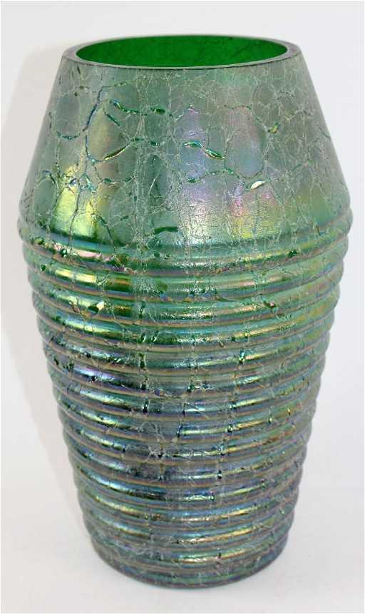 Kralik Art Deco Art Glass Textured Vase